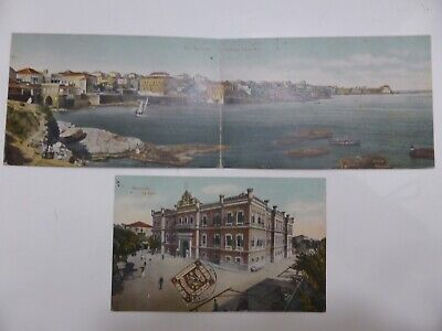 @004 CPA LIBAN BEYROUTH 1919 Carte postale panoramique 2 volets
