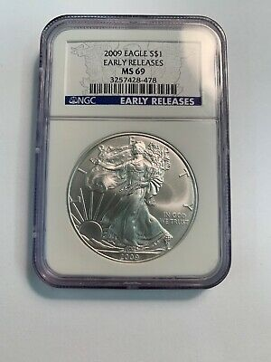 2009 Silver American Eagle -  NGC  MS69 - Early Releases !!! No Reserve !!
