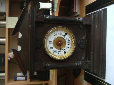 Large Fattorini & Sons Chiming Mantel Clock with Patent Automatic Alarm.