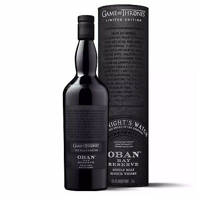 GAME OF THRONES LIMITED EDITION The Night's Watch - Oban Bay Reserve Whisky