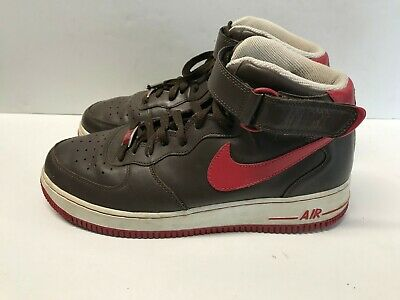 check out ebe52 396e5 Nike Air Force 1 82 XXV Mens Basketball Shoes Brown Red 315091-261 US