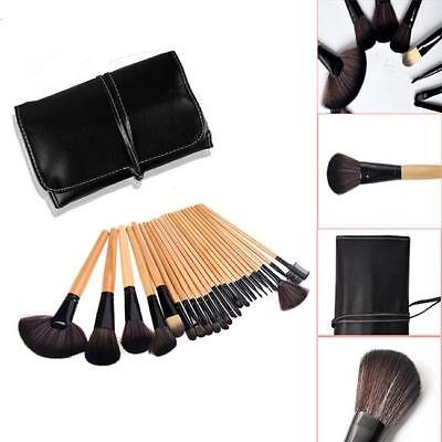 Professional 24pcs Black Make Up Cosmetic Makeup Brushes Kit Set with Pouch  L