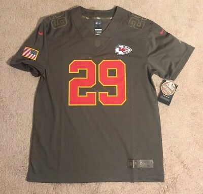 Nike Kansas City Chiefs NFL NFL Salute To Service Eric Berry Jersey NEW  Youth XL bc3df7ead