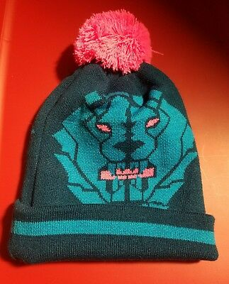 NWT Nike Lebron James Winter Beanie Hat Blue Force Pink Pom Unisex YOUTH 8  a13eb2621635