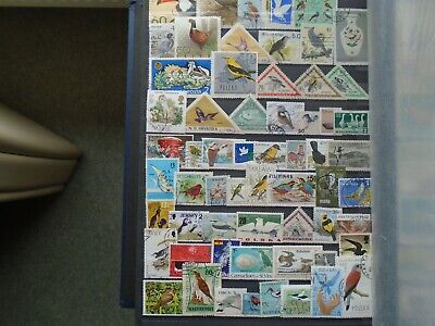 Birds Stamps Worldwide  Private collection. 60 different Stamps.. High Value.