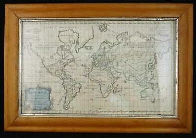 18th cent. Map of the World - Robert de Vaugondy on Mercator's Projection.