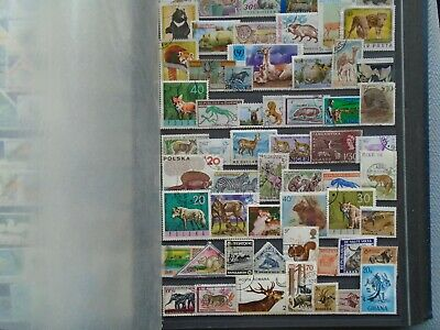 Animal Stamps Worldwide  Private collection. 60 different Stamps.. High Value.