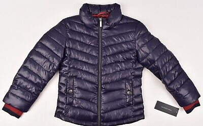 FRENCH CONNECTION Girls' Padded Quilted Jacket, Purple, sizes 5 6 years