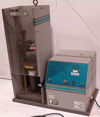 "Carver 15 ton hydraulic lab press Type C 3888 Auto series 6"" x 6"""