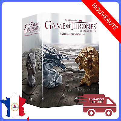 Game Of Thrones DVD L'Intégrale Saison 1 à 7 Coffret NEUF Sous Cellophane France