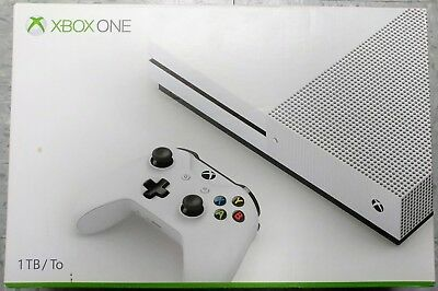Microsoft Xbox One S 1TB Gaming Console 1681 White In Box Excellent Shape
