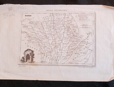 Card the Gers drawn up by Monin La France picturesque 19TH century