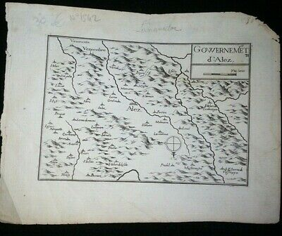 Map of the government of Alez by Christophe Tassin geographer