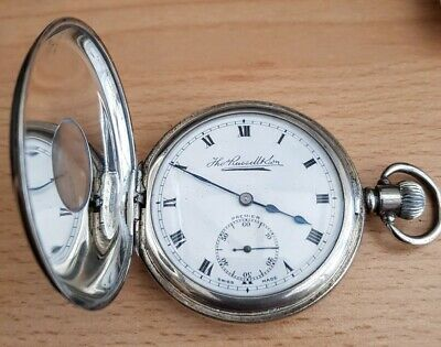 Antique Sterling Silver Gentlemans Pocket Watch-Thos Russell & Son