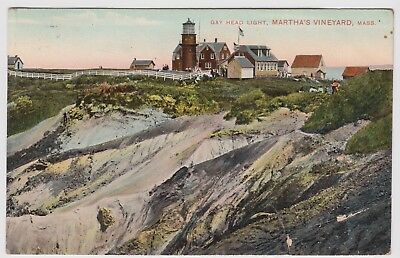 c1910 Gay Head Light Martha's Vineyard MA Massachusetts POSTCARD cond. issue
