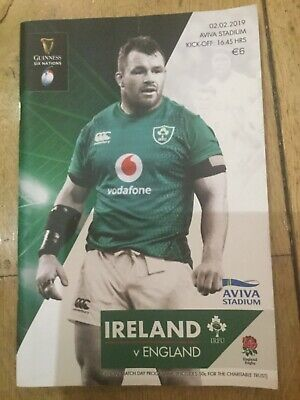Rugby Programme And Ticket Ireland V England 2019