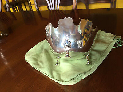 Tiffany & Co Sterling Silver Footed Bowl No Monogram Candy Dish 11.2 toz