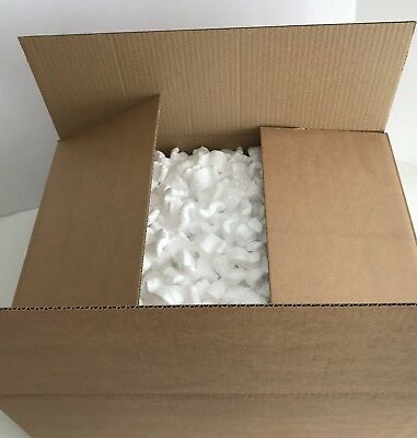 BOXED  VOID FILL Polystyrene Packing chips  -  Royal Mail small Parcel Size .
