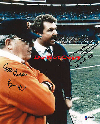 CHICAGO BEARS MIKE DITKA & BUDDY RYAN signed autographed 8x10 PHOTO Reprint