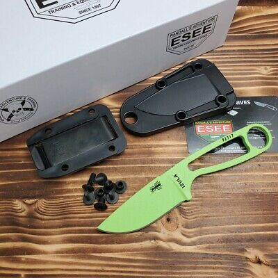 ESEE Venom Green Izula 1095HC Fixed Blade Camp Knife ESIZVG