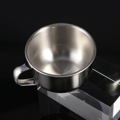 1pc Shaving Bowl Durable Stainless Steel Large Foam Bowl Soap Bowl for Daily Use