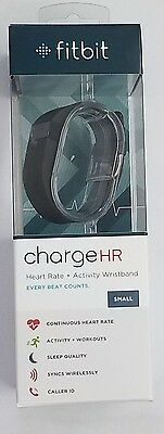 Fitbit Charge HR Heart Rate Activity Sleep Tracker Time Fitness  Black (Small)