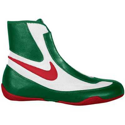 2a8653f3f97e4 NEW MEN'S NIKE Machomai Mid-Top Boxing Shoes Size: 10 Color: Red/White/Green