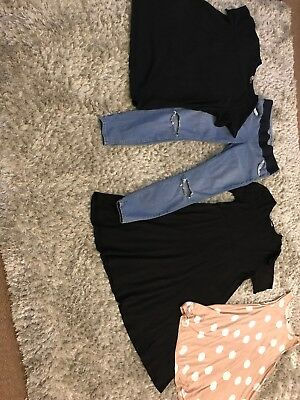 Asos Size 10 Maternity Bundle Ripped Jeans, Dress & 2 Tops