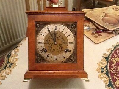antique bracket clock wooden case