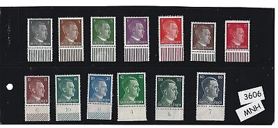 #3606   MNH Stamp set / Adolph Hitler  / Third Reich issues / Nazi Germany / MNH
