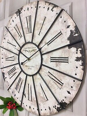 EXTRA LARGE SHABBY CHIC FRENCH VINTAGE ANTIQUE STYLE 60cm Wall Clock NEW & BOXED