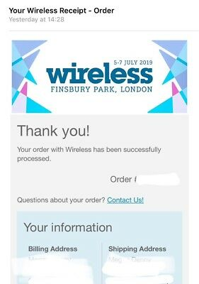 Wireless Festival 2019 Tickets for FRIDAY and SUNDAY