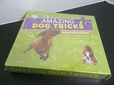 AMAZING DOG TRICKS Boxed Kit Guide to Teaching 20 Advanced Tricks