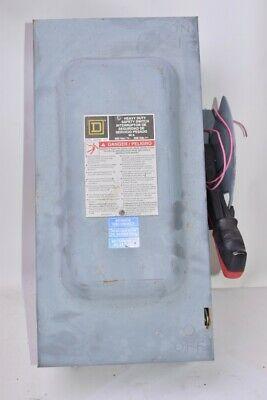 Square D H362 Safety Switch 60A, 600V, 3P Fusible Safety Switch