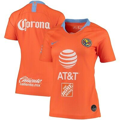 8a007977e52 Nike Club America DF Season 2018 - 2019 Womens Soccer Third Jersey Orange