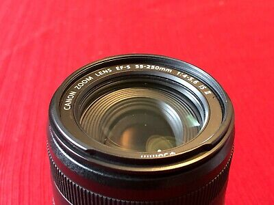 Canon EF-S 55-250mm f/4-5.6 IS Lens with box rarely used