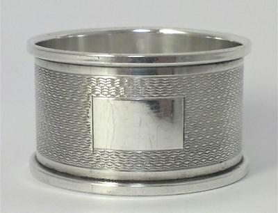 Vintage hallmarked Sterling Silver Napkin Ring (not inscribed) – 1977