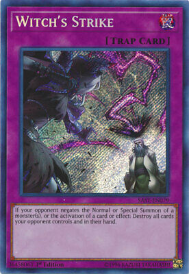 Yugioh-1x-Near Mint-Witch's Strike - SAST-EN079 - Secret Rare - 1st Edition-Sava