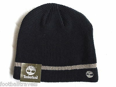 af43a423e35 TIMBERLAND NAVY Waffle BEANIE Tuque Mutze UNISEX Hat NEW WITH TAGS