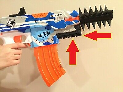 SSWI (Any Color) NERF Compatible Stryfe Lower Picatinny Rail Mod to Nerf Gun