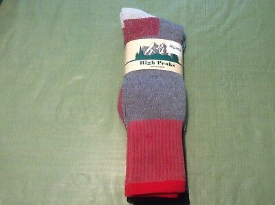 Alpaca Men's Outdoor Thermal Boot Socks -Made In The USA- Size 10-13, 2 Pair