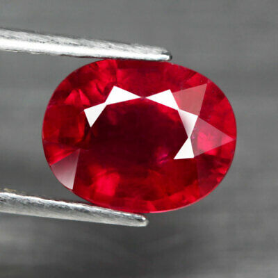 3.46 Ct. Oval Facet Natural Ruby Top Blood Red Madagascar Fabulous