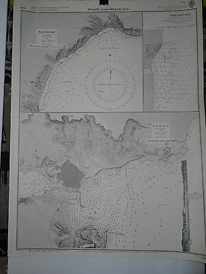 CM2285 Found in a treasure chest! Vintage marine chart Black Sea
