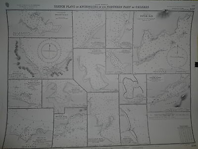 CM2194 Found in a treasure chest! Vintage marine chart Celebes