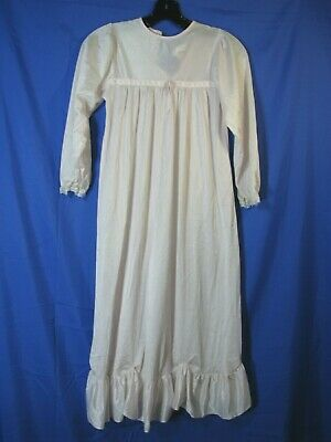 ISAAC CARRICO IC Vintage SILKY PINK NIGHTGOWN Night Gown PINK RUFFLES Girls 10