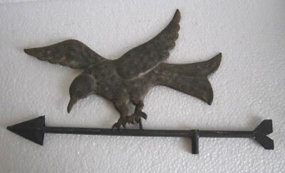 Vintage Old Ironeagle Weather Vane , Embossed And Detailed .