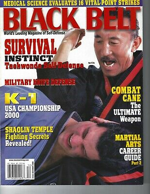 Black Belt Magazine December 2000 - Hee-Il Cho Tae Kwon Do martial arts