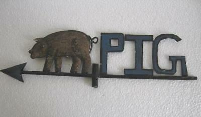 Vintage Old Iron Pig Weather Vane Weathervane  .