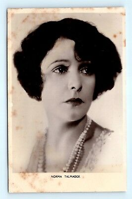 Postcard c1920s Real Photo RPPC Movie Star Actress Norma Talmadge H13