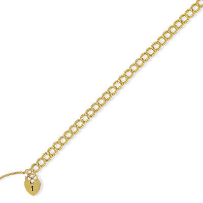 671e2d1613acf JEWELCO LONDON 9CT Gold Victorian Heart Prince Of Wales 6mm Bracelet ...